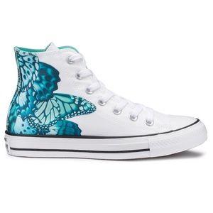 Converse butterfly high top shoe